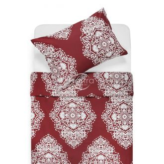 Sateen bedding set ADONIA 40-1174-WINE RED