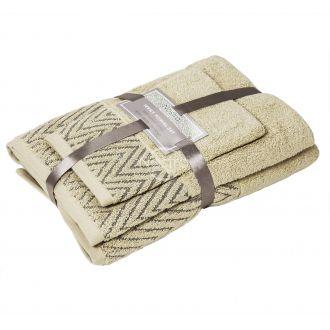 3 pieces towel set T0108 T0108-ECRU