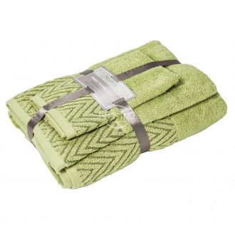 3 pieces towel set T0108 T0108-CELERY GREEN