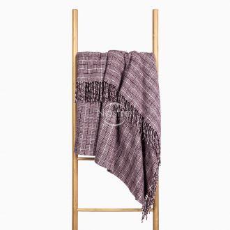 Woolen plaid MERINO-300 80-3224-DARK PLUM