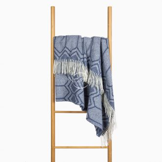 Woolen plaid MERINO-300 80-3232-BLUE