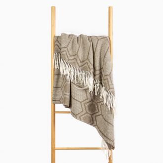 Woolen plaid MERINO-300 80-3232-BROWN