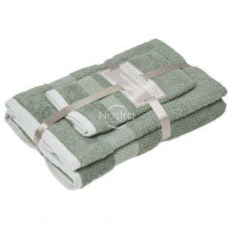 3 pieces towel set T0106 T0106-OIL GREEN