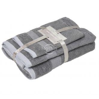 3 pieces towel set T0106 T0106-GREY M18