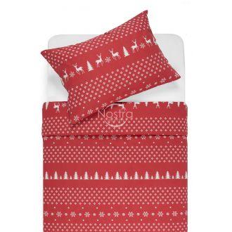 Flaneļa gultas veļa BIANCA 10-0544-RED