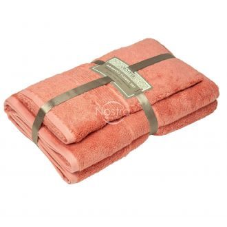 Bamboo towels set BAMBOO-600 T0105-CORAL PINK