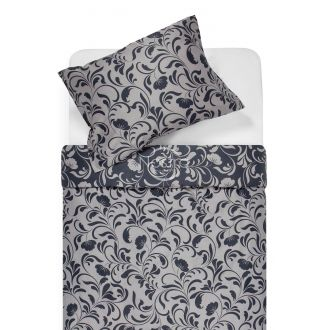 Sateen bedding set AFIFA 40-1176-IRON GREY/L.GREY