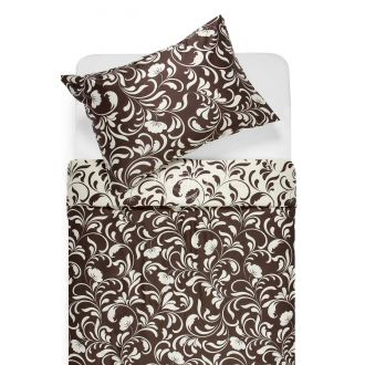 Sateen bedding set AFIFA 40-1176-PAPYRUS/CACAO