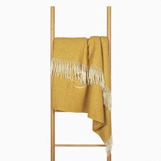Woolen plaid MERINO-300 80-2060-MUSTARD