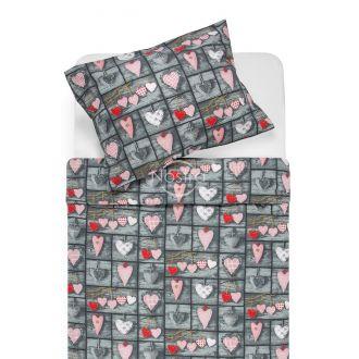 Cotton bedding set DELTA 40-1160-DARK GREY