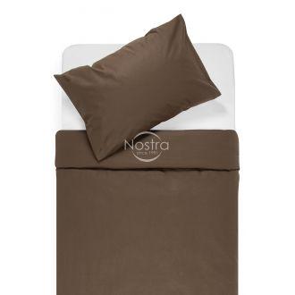 Kokvilnas gultas veļa DOTTY 00-0154-DARK BROWN