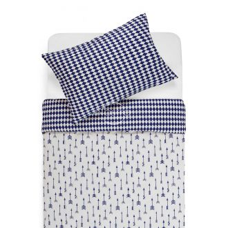 Children bedding set ARROW 10-0541/30-0582-WHITE/BLUE