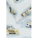 Bērnu katūna gultas veļa RACING CARS 10-0360-GREY