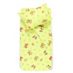 Bērnu katūna gultas veļa SPRING & BUTTERFLIES 10-0435-L.GREEN