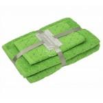 3 daļu dvieļu komplekts T0107 T0107-JASMINE GREEN
