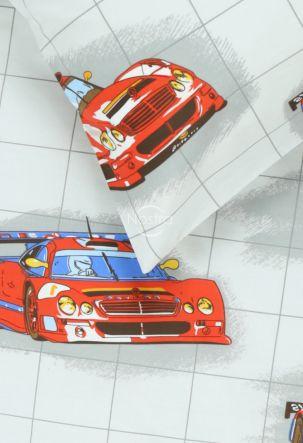 Bērnu katūna gultas veļa RACING CARS