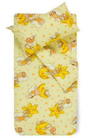 Bērnu katūna gultas veļa DREAMY BEARS