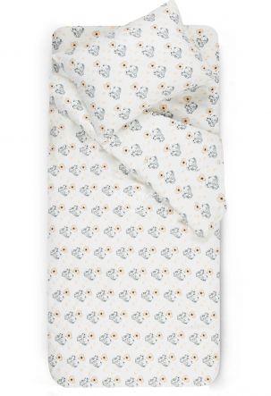 Children flannel bedding set BABY ELEPHANT