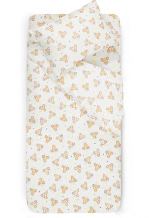 Детское фланелевое постельное белье SLEEPING MOUSE
