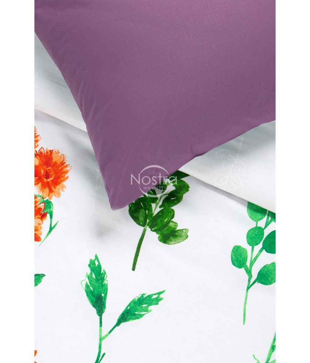 Kokvilnas gultas veļa DIOR 20-1538/00-0374-ORANGE/GRAPE