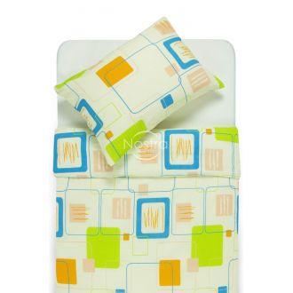 Seersucker bedding set ELEANOR 30-0183-GREEN BLUE