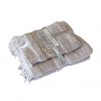 2 pieces towel set 550DOBBY T0058-TAUPE