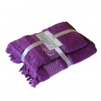 2 pieces towel set 550DOBBY T0058-PLUM