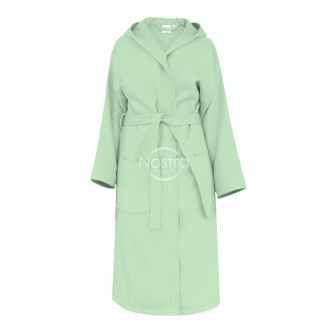 Hooded bathrobe PIQUE 380 BATHROBE-SAGE