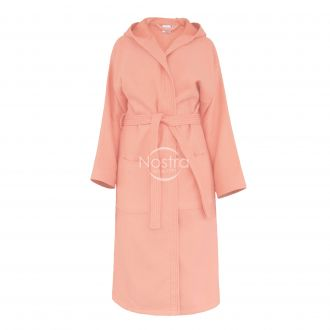 Hooded bathrobe PIQUE 380 BATHROBE-GRAPEFRUIT