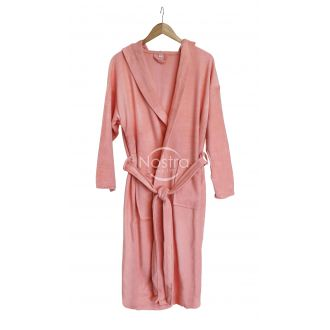 Hooded bathrobe 00-0137-PEACH AMBE