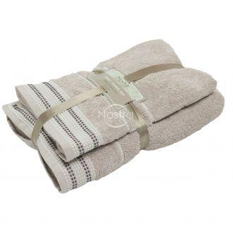 2 pieces towel set 550DOBBY T0044-TEA ROSE