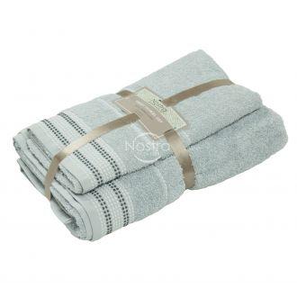 2 pieces towel set 550DOBBY T0044-L.GREY