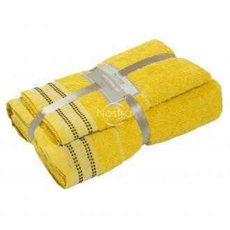 2 pieces towel set 550DOBBY T0044-YELLOW