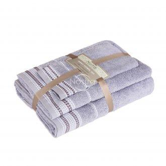 3 pieces towel set EXCLUSIVE T0044-GREY BLUE