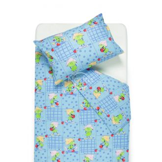 Children bedding set PLAYFUL FRIENDS 10-0077-BLUE