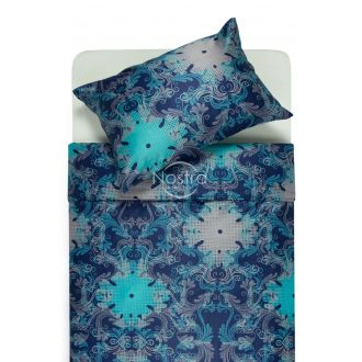 Mako satīna gultas veļa CAROLINE 40-0631-BLUE