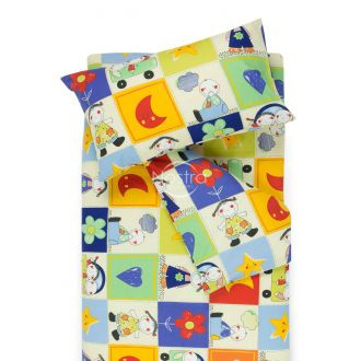 Children bedding set HAPPY DAYS 10-0427-BLUE