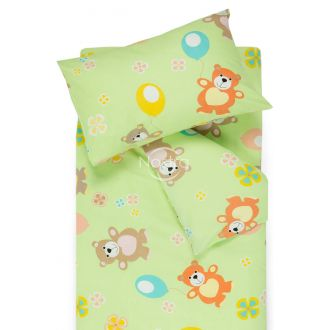 Children bedding set BEAR & BALLOON 10-0406-GREEN