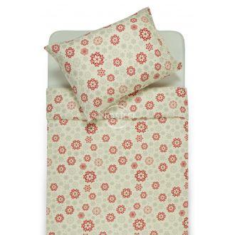 Фланелевое постельное бельё BETTY 40-1046-WINE RED