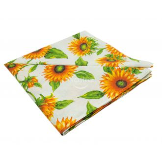 Cotton tablecloth 40-0327-O. YELLOW