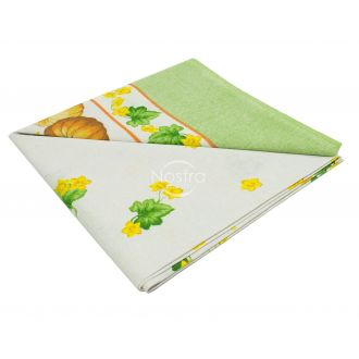Cotton tablecloth 40-0328-YELLOW
