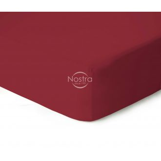 Fitted jersey sheets JERSEY-WINE RED