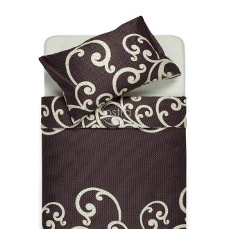 Sateen bedding set AVRIL 40-0677-BROWN