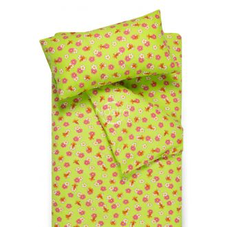 Children flannel bedding set LITTLE BEES 10-0130-GREEN