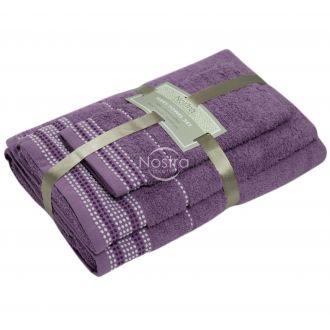3 pieces towel set EXCLUSIVE T0044-GRAPE