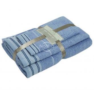 3 pieces towel set EXCLUSIVE T0044-SOFT BLUE
