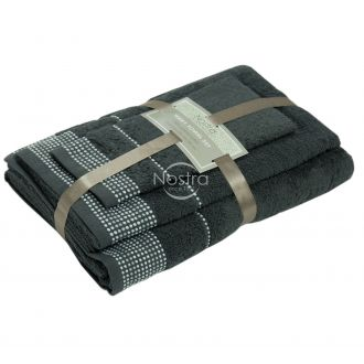 3 pieces towel set EXCLUSIVE T0044-ANTHRACITE