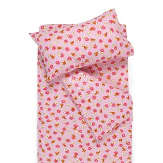 Bērnu flaneļa gultas veļa LITTLE BEES 10-0130-PINK