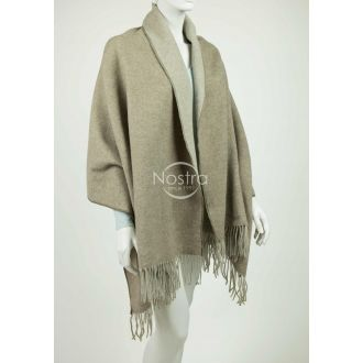 Scarf KUBA DOUBLE FACE-L.BROWN BEIGE