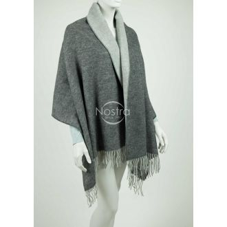 Scarf KUBA DOUBLE FACE-D.GREY L.GREY